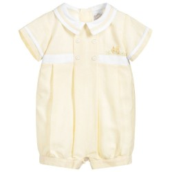 Baby Boys Lemon Romper Suite